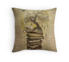Knowledge is the key Throw Pillow