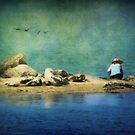 Beachcombing at Teach's Hole by Lea  Weikert