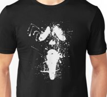 Ghostface Splatter (White) Unisex T-Shirt