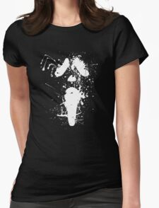 Ghostface Splatter (White) Womens Fitted T-Shirt