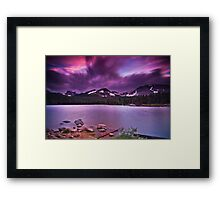 The Last Days Of A July Evening Framed Print