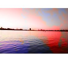 Surreal abstract colours over river landscape Photographic Print
