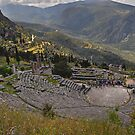 The Amphitheatre, Delphi by Peter Hammer