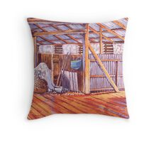 Corona Woolshed Interior #2 Throw Pillow