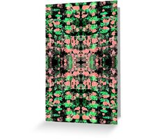 Abstract pattern design in trendy colours Greeting Card