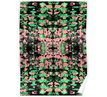 Abstract pattern design in trendy colours Poster
