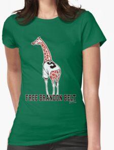 Free Brandon Belt Giraffe Womens Fitted T-Shirt