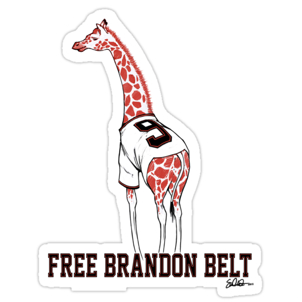 Free Brandon Belt Giraffe by swiener