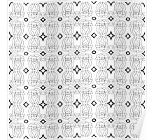 Abstract black and white seamless pattern. Poster