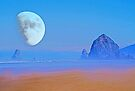 Cannon Beach Moon by Tori Snow