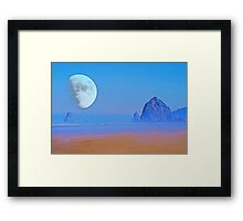 Cannon Beach Moon Framed Print