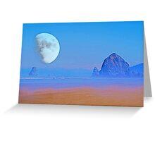 Cannon Beach Moon Greeting Card