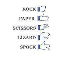 Rock, paper, scissors... Photographic Print