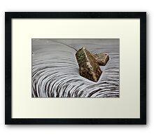 A Swell Swirl Framed Print