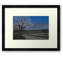 Moon over Kansas Framed Print