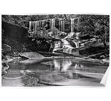 Somersby Falls, monochrome Poster