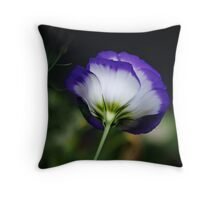 Lisianthus Looking Away Throw Pillow