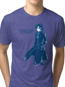 Sherlock Holmes - Blue Tri-blend T-Shirt