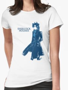 Sherlock Holmes - Blue Womens Fitted T-Shirt