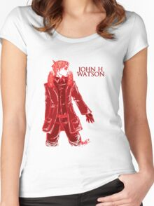 John Watson - Red - Text Women's Fitted Scoop T-Shirt