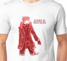 John Watson - Red - Text Unisex T-Shirt
