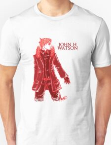 John Watson - Red - Text T-Shirt
