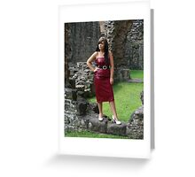 Red Dress. Greeting Card