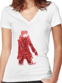 John Watson - Red - No Text Women's Fitted V-Neck T-Shirt