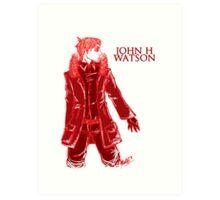 John Watson - Red Art Print