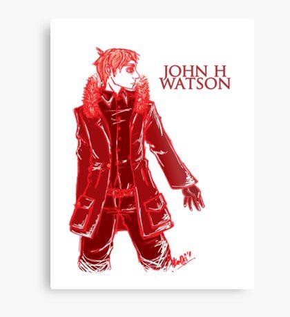 John Watson - Red Metal Print