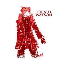 John Watson - Red Photographic Print