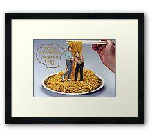 National Noodle Day Framed Print