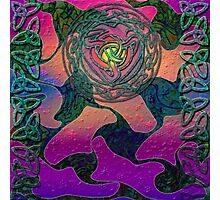Celtic Rose with a Rainbow Glow Photographic Print