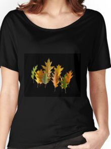 autumn oak leaves levitating Women's Relaxed Fit T-Shirt
