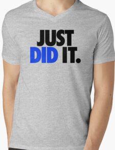JUST DID IT. - BLUE Mens V-Neck T-Shirt