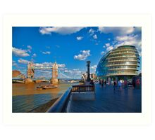 Tower Bridge and City Hall Art Print