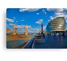 Tower Bridge and City Hall Canvas Print