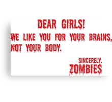 Zombie Letter Canvas Print