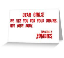 Zombie Letter Greeting Card