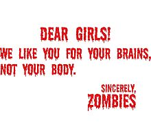 Zombie Letter Photographic Print