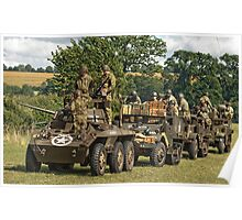 U.S army convoy Poster
