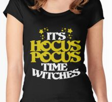 It's hocus pocus time witches  Women's Fitted Scoop T-Shirt