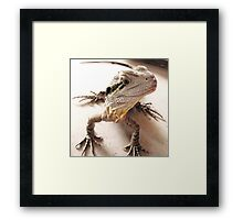 Where have you been? I'm starving! Framed Print