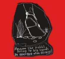 Rabbis Foot BLACK TEE/BABY GROW/ Sticker One Piece - Short Sleeve