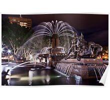 Archibald fountain Hyde Park Sydney Poster