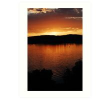 lake zurich sunset Art Print