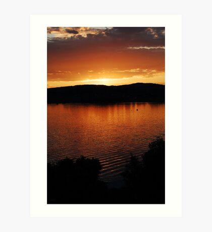 lake zurich sunset Art Print