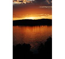 lake zurich sunset Photographic Print