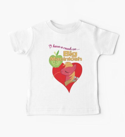 I have a crush on... Big Macintosh - with text Kids Clothes