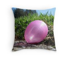Glittery Egg with Sunlight Throw Pillow